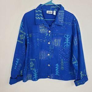 Chico's Embellished Denim Jacket Size 3 XL